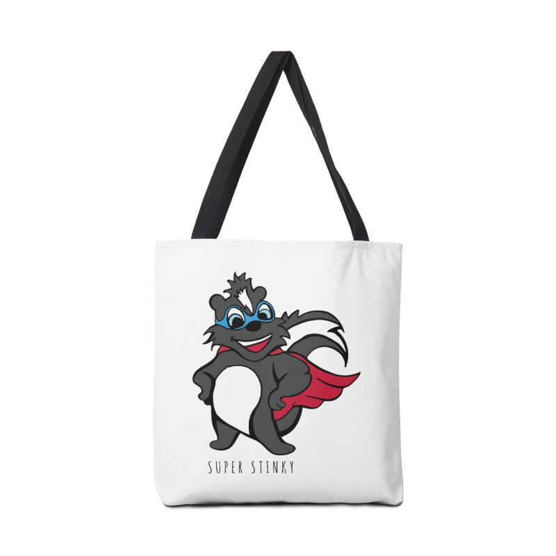 Super Hero Stinky Skunk Accessories Tote Bag Bag by Presley Design Studio Shop