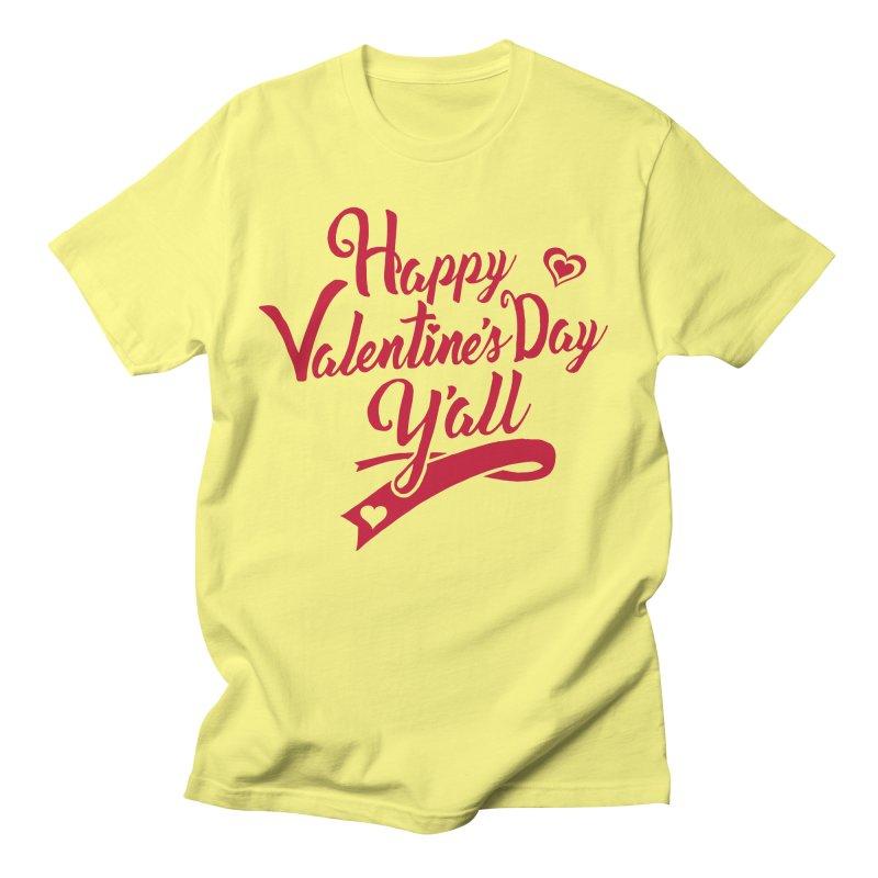 Happy Valentine's Day Ya'll Men's T-Shirt by Presley Design Studio Shop