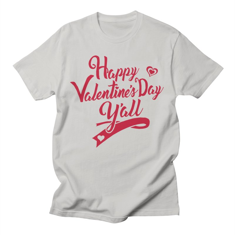 Happy Valentine's Day Ya'll Men's Regular T-Shirt by Presley Design Studio Shop