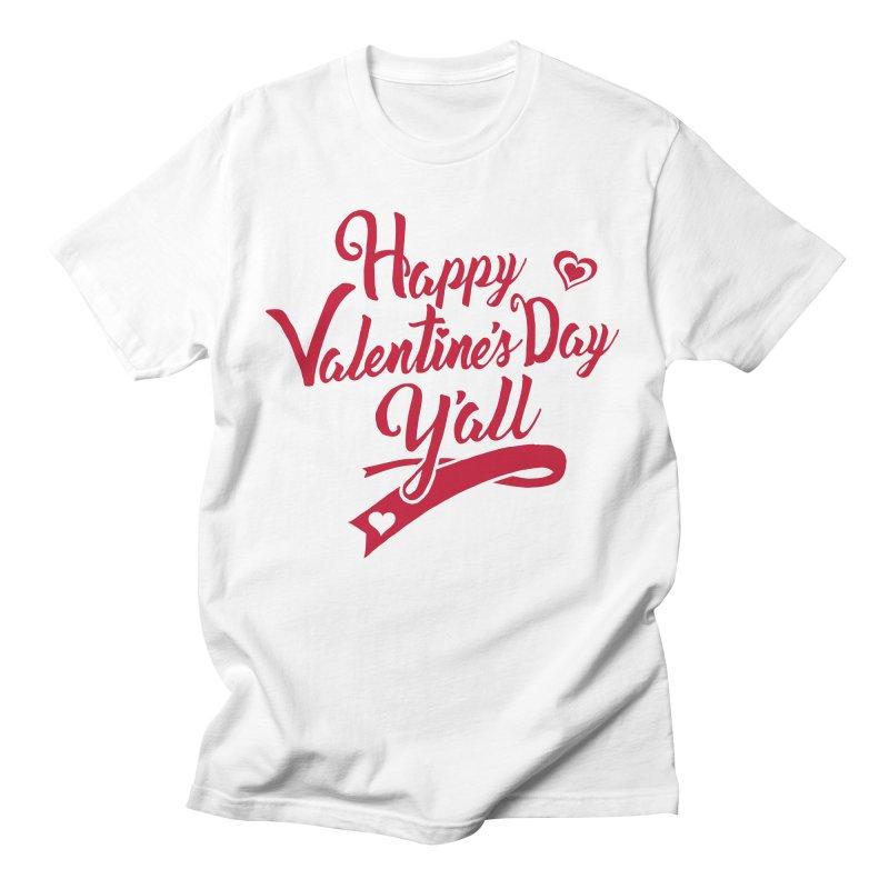 Happy Valentine's Day Ya'll Men's Regular T-Shirt by Presley Design Studio Shop