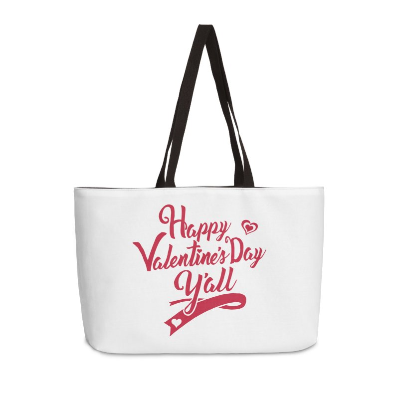 Happy Valentine's Day Ya'll Accessories Weekender Bag Bag by Presley Design Studio Shop