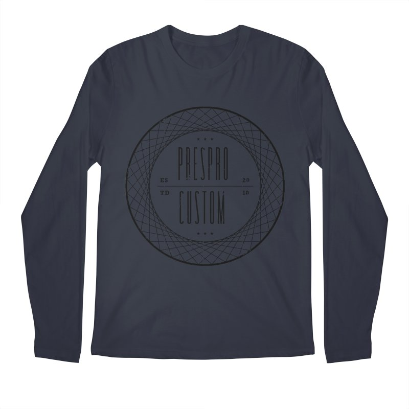 PC-BLACK INK Men's Regular Longsleeve T-Shirt by PRESPRO CUSTOM HOMES
