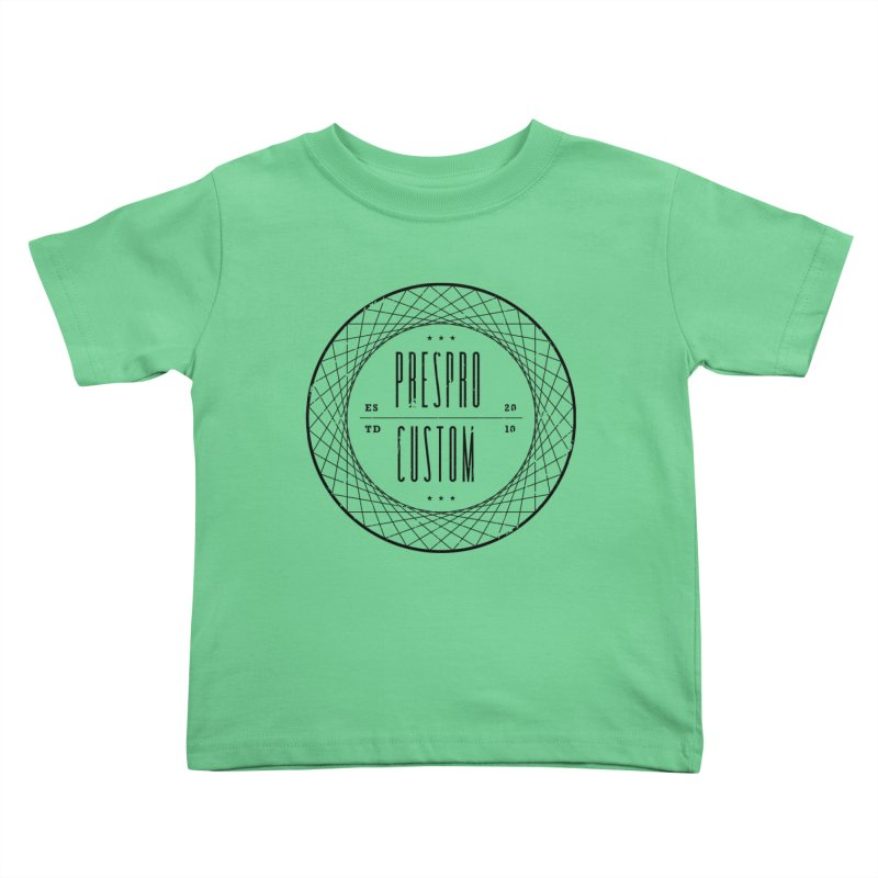 PC-BLACK INK Kids Toddler T-Shirt by PRESPRO CUSTOM HOMES