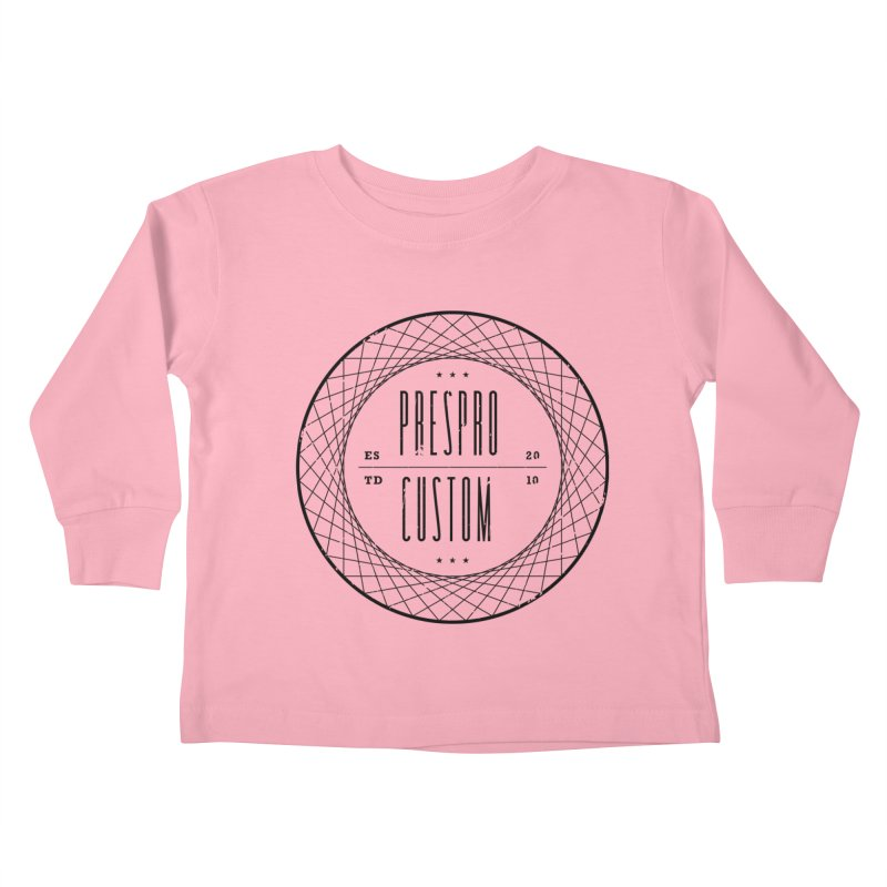 PC-BLACK INK Kids Toddler Longsleeve T-Shirt by PRESPRO CUSTOM HOMES