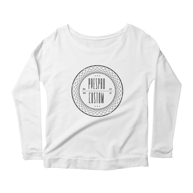 PC-BLACK INK Women's Scoop Neck Longsleeve T-Shirt by PRESPRO CUSTOM HOMES