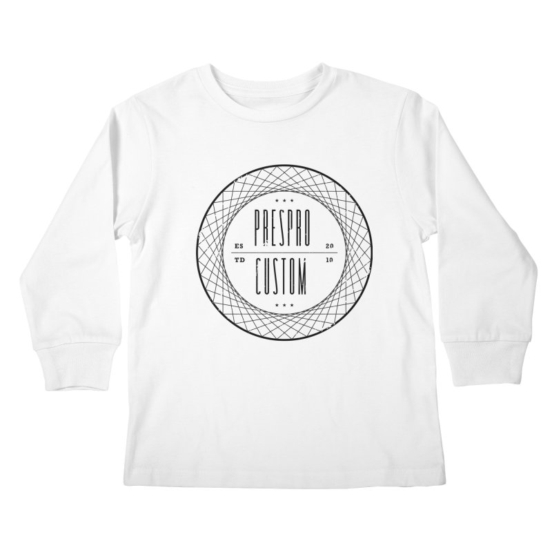 PC-BLACK INK Kids Longsleeve T-Shirt by PRESPRO CUSTOM HOMES