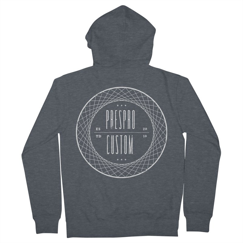 PC-WHITE INK Men's French Terry Zip-Up Hoody by PRESPRO CUSTOM HOMES