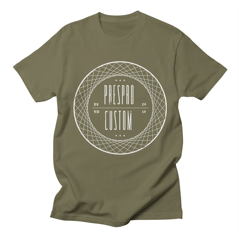 PC-WHITE INK Men's T-Shirt by PRESPRO CUSTOM HOMES