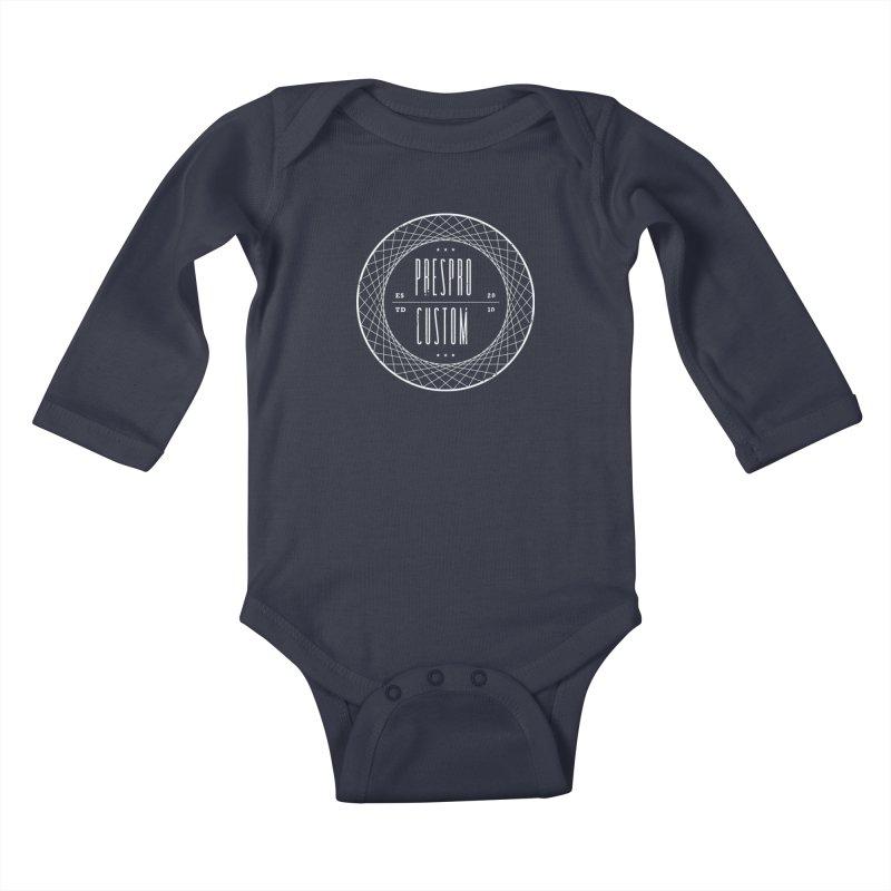PC-WHITE INK Kids Baby Longsleeve Bodysuit by PRESPRO CUSTOM HOMES
