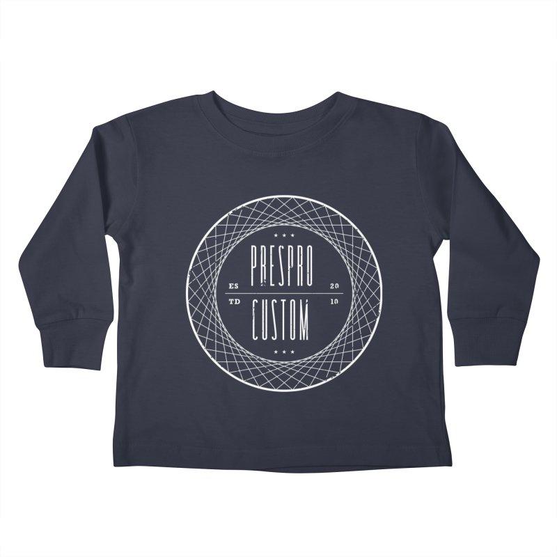 PC-WHITE INK Kids Toddler Longsleeve T-Shirt by PRESPRO CUSTOM HOMES