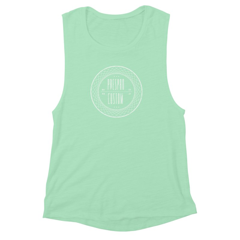 PC-WHITE INK Women's Muscle Tank by PRESPRO CUSTOM HOMES
