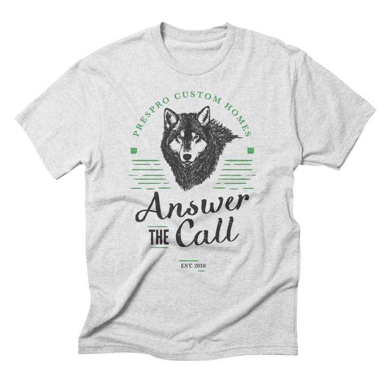 ANSWER THE CALL in Men's Triblend T-Shirt Heather White by PRESPRO CUSTOM HOMES