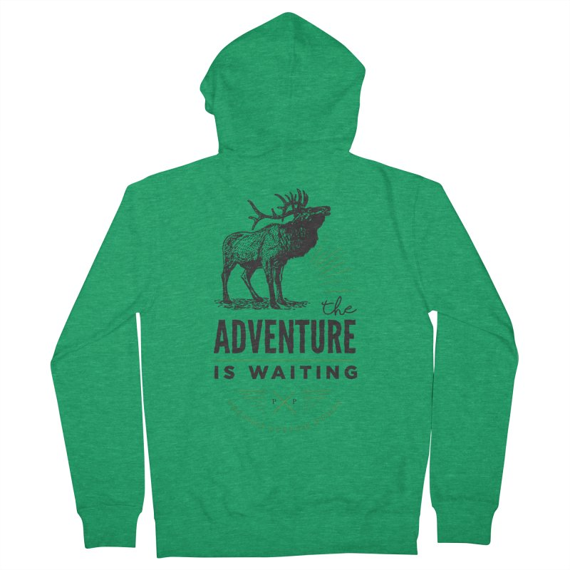 ADVENTURE IS WAITING Women's Zip-Up Hoody by PRESPRO CUSTOM HOMES