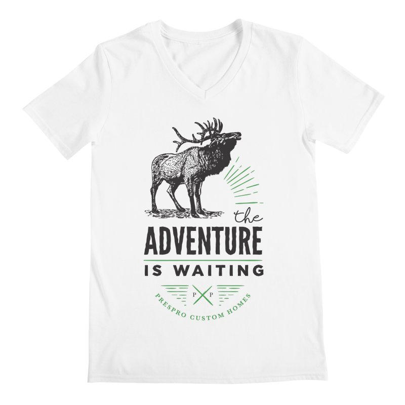 ADVENTURE IS WAITING Men's V-Neck by PRESPRO CUSTOM HOMES