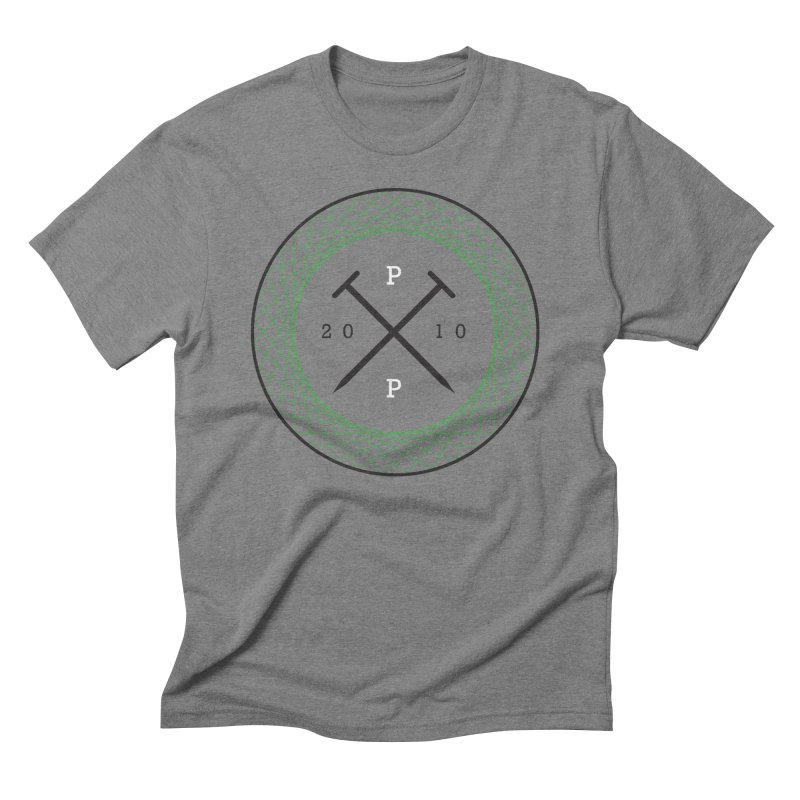 CROSSED NAILS in Men's Triblend T-Shirt Grey Triblend by PRESPRO CUSTOM HOMES