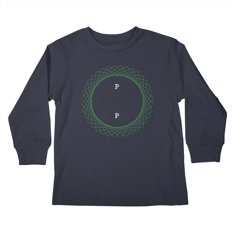 CROSSED NAILS Kids Longsleeve T-Shirt by PRESPRO CUSTOM HOMES