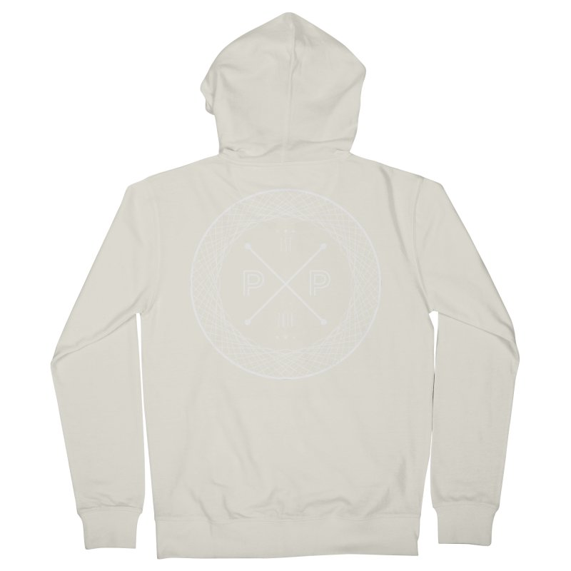 MARK-WHITE-INK Men's French Terry Zip-Up Hoody by PRESPRO CUSTOM HOMES