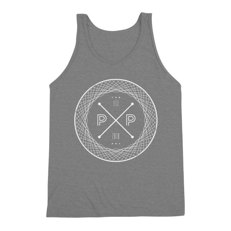 MARK-WHITE-INK Men's Triblend Tank by PRESPRO CUSTOM HOMES