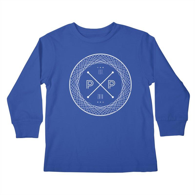 MARK-WHITE-INK Kids Longsleeve T-Shirt by PRESPRO CUSTOM HOMES