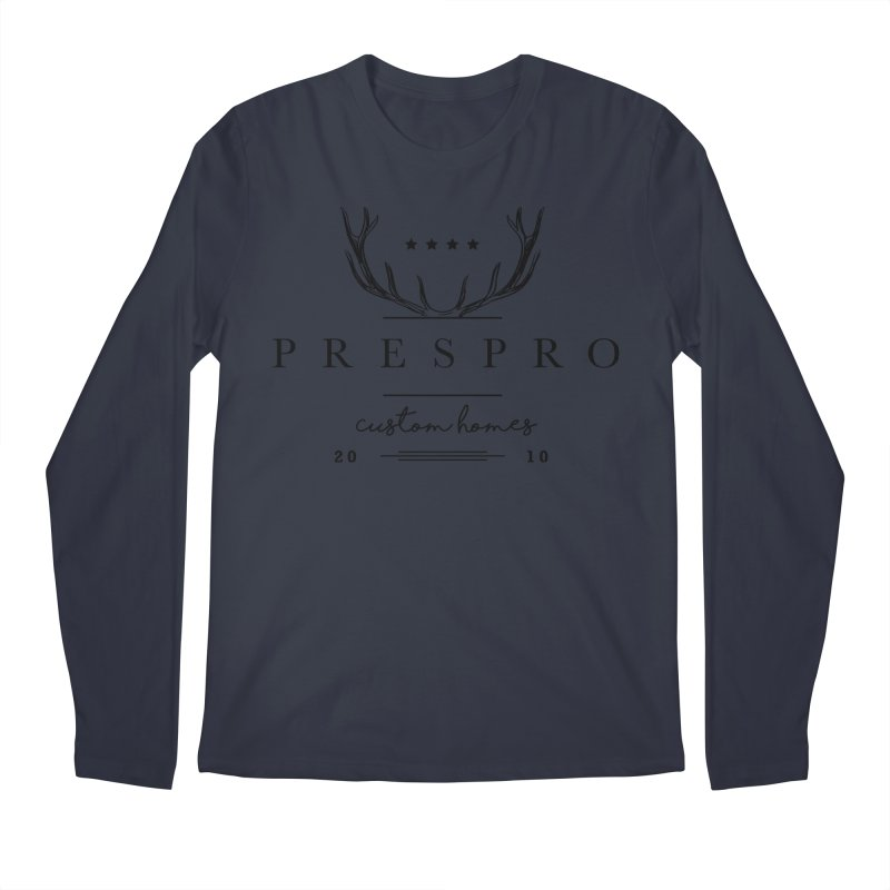 ANTLERS-BLACK INK Men's Longsleeve T-Shirt by PRESPRO CUSTOM HOMES