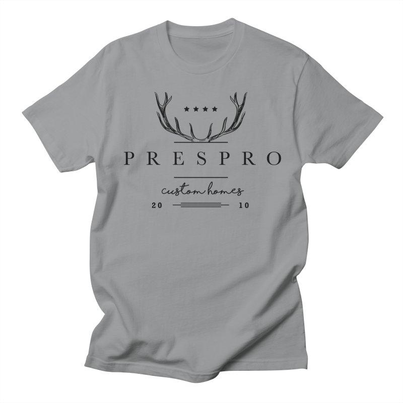 ANTLERS-BLACK INK Men's Regular T-Shirt by PRESPRO CUSTOM HOMES