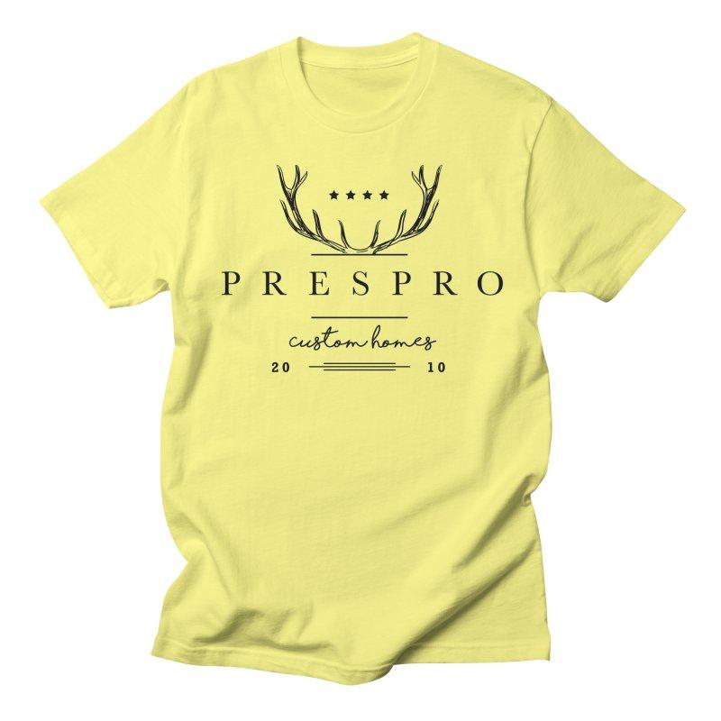 ANTLERS-BLACK INK Men's T-shirt by PRESPRO CUSTOM HOMES