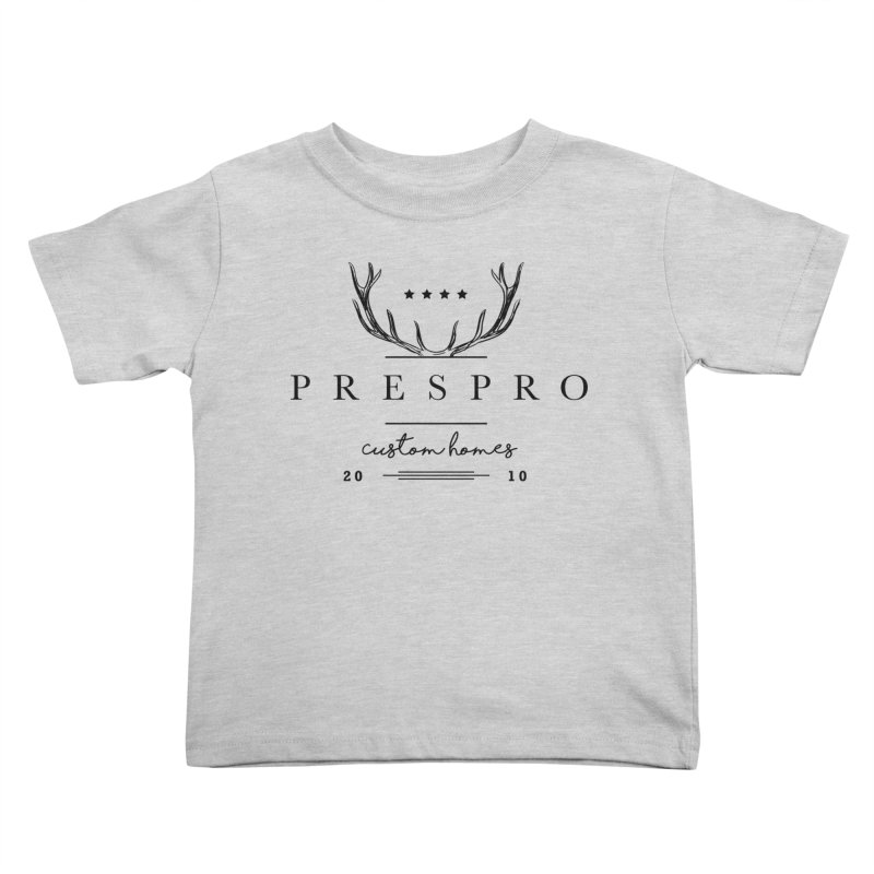 ANTLERS-BLACK INK Kids Toddler T-Shirt by PRESPRO CUSTOM HOMES