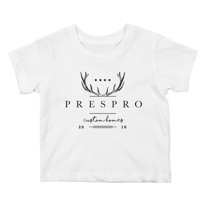 ANTLERS-BLACK INK Kids Baby T-Shirt by PRESPRO CUSTOM HOMES