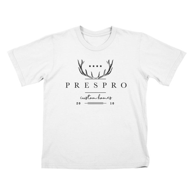 ANTLERS-BLACK INK Kids T-Shirt by PRESPRO CUSTOM HOMES