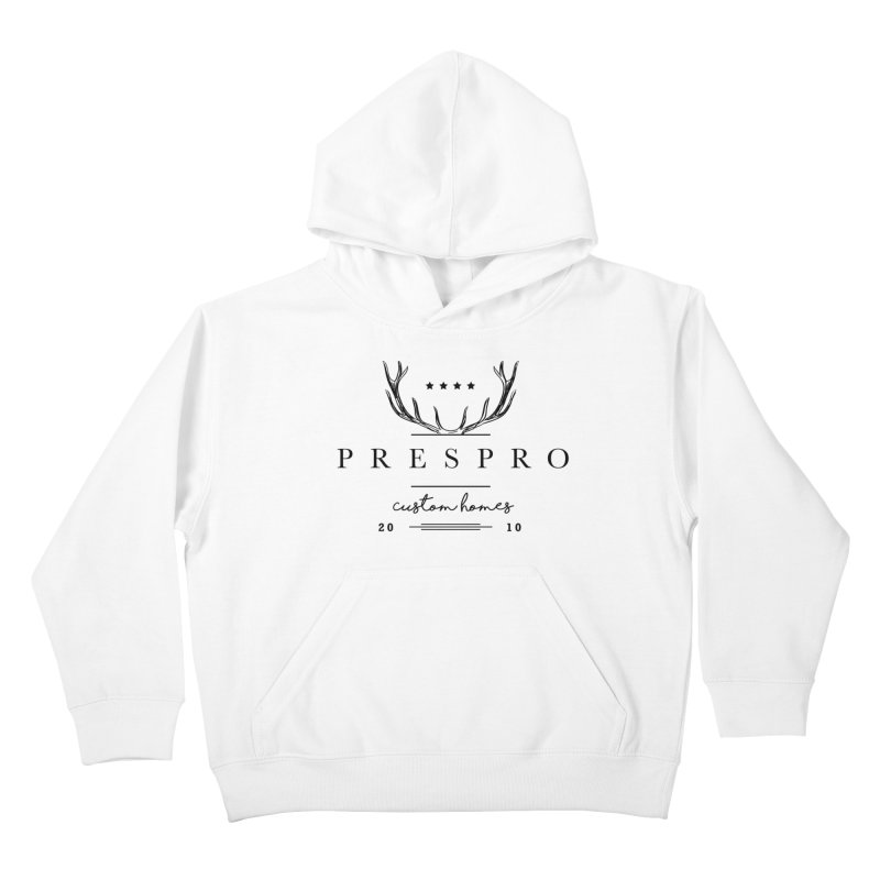 ANTLERS-BLACK INK Kids Pullover Hoody by PRESPRO CUSTOM HOMES