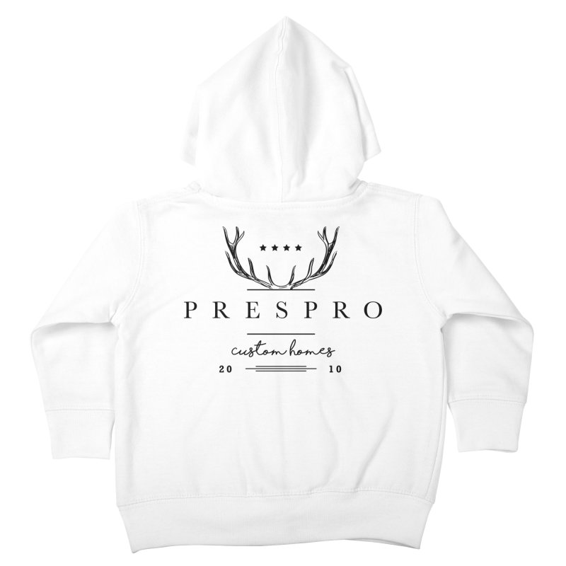 ANTLERS-BLACK INK Kids Toddler Zip-Up Hoody by PRESPRO CUSTOM HOMES