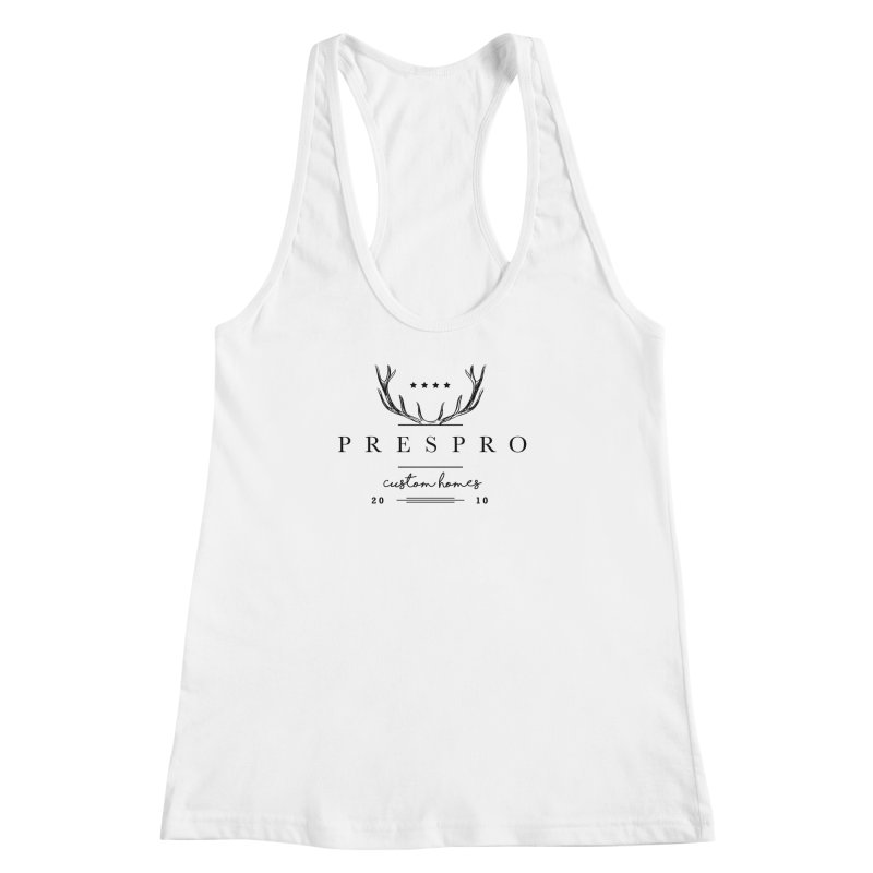 ANTLERS-BLACK INK Women's Racerback Tank by PRESPRO CUSTOM HOMES