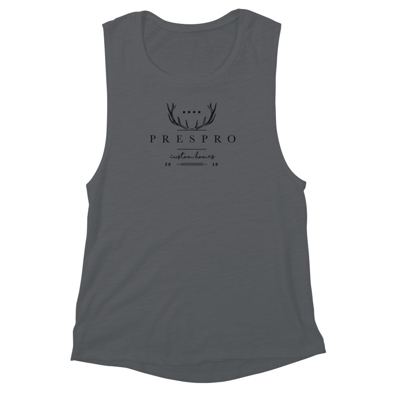 ANTLERS-BLACK INK Women's Muscle Tank by PRESPRO CUSTOM HOMES