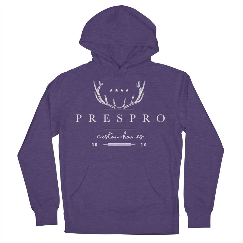 ANTLERS-WHITE INK Women's French Terry Pullover Hoody by PRESPRO CUSTOM HOMES