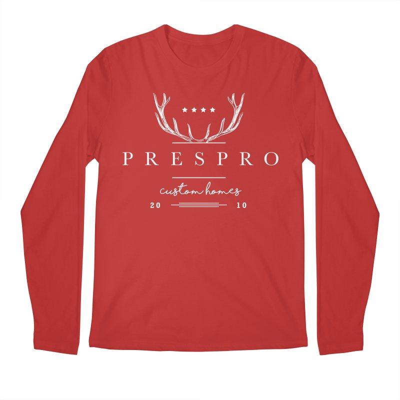 ANTLERS-WHITE INK Men's Longsleeve T-Shirt by PRESPRO CUSTOM HOMES