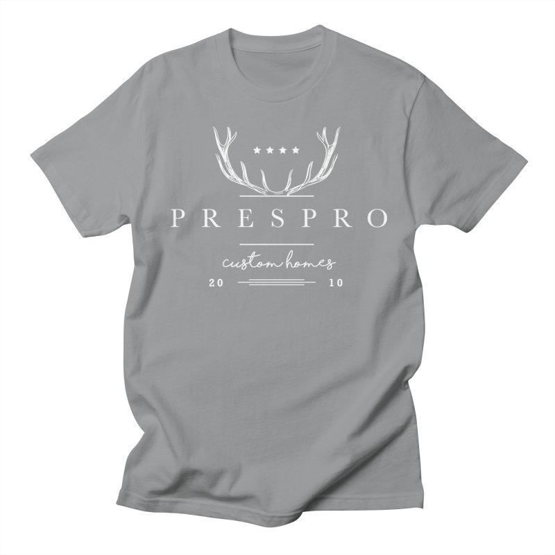 ANTLERS-WHITE INK Men's Regular T-Shirt by PRESPRO CUSTOM HOMES