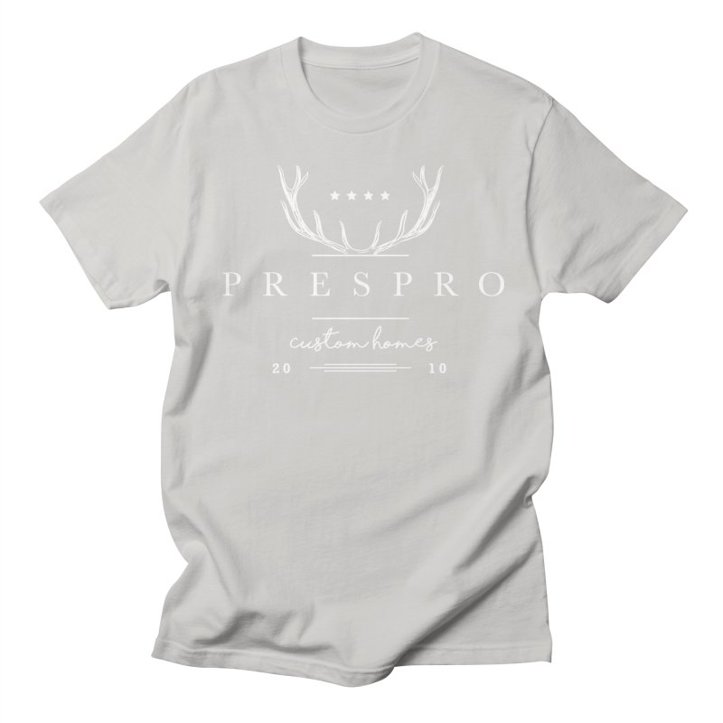 ANTLERS-WHITE INK Men's Regular T-Shirt by PRESPRO CUSTOM HOMES