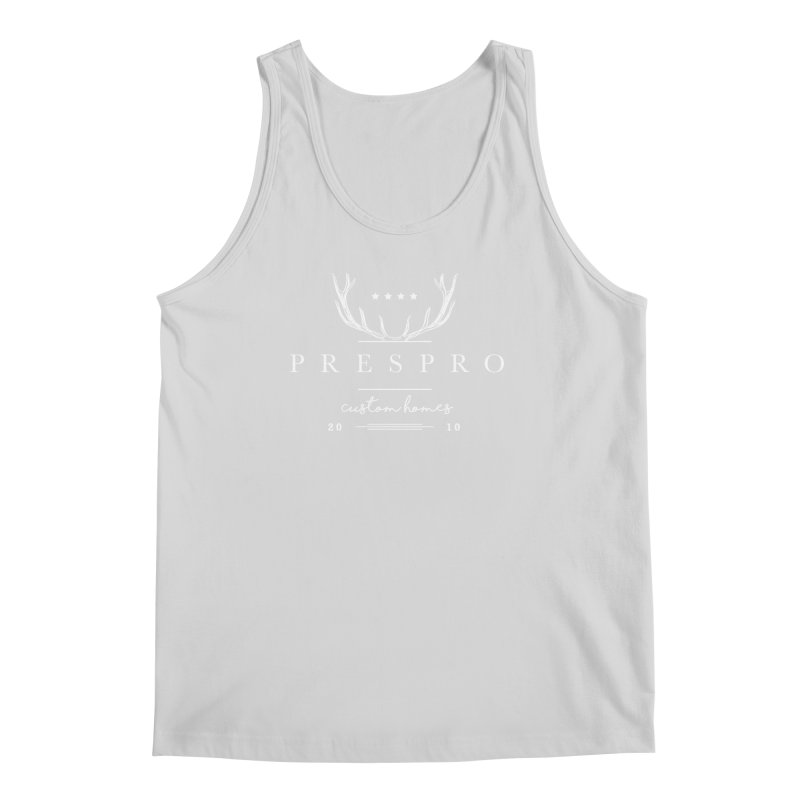 ANTLERS-WHITE INK Men's Regular Tank by PRESPRO CUSTOM HOMES