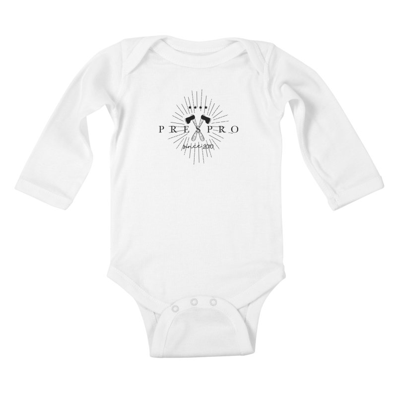 AXES-BLACK INK Kids Baby Longsleeve Bodysuit by PRESPRO CUSTOM HOMES