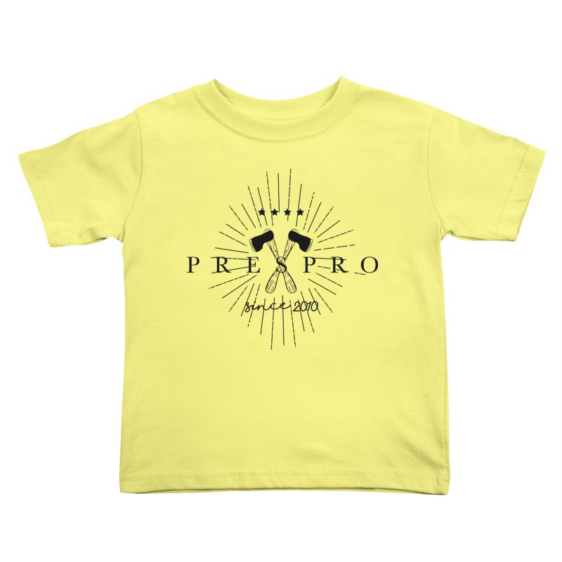 AXES-BLACK INK Kids Toddler T-Shirt by PRESPRO CUSTOM HOMES