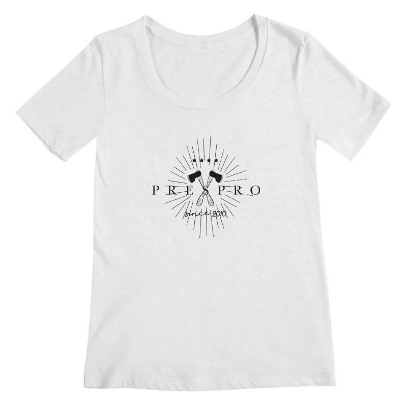 AXES-BLACK INK Women's Scoopneck by PRESPRO CUSTOM HOMES