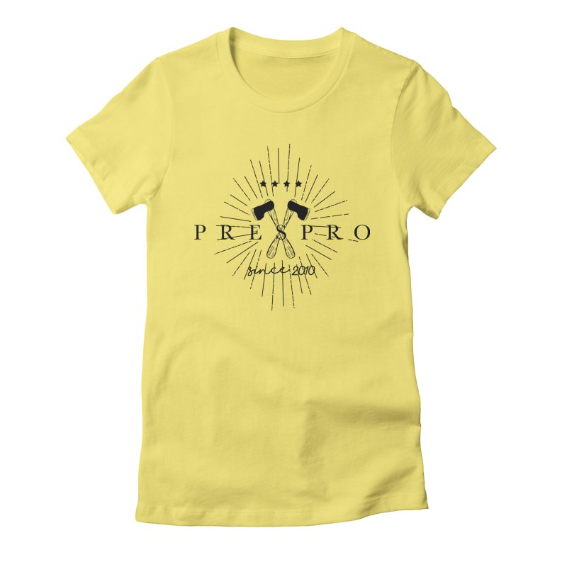 AXES-BLACK INK Women's Fitted T-Shirt by PRESPRO CUSTOM HOMES