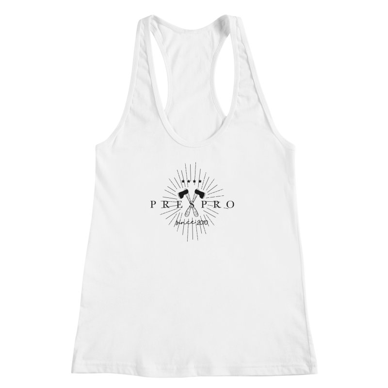AXES-BLACK INK Women's Racerback Tank by PRESPRO CUSTOM HOMES