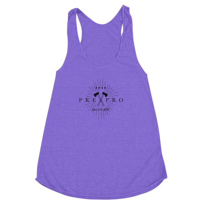 AXES-BLACK INK Women's Racerback Triblend Tank by PRESPRO CUSTOM HOMES