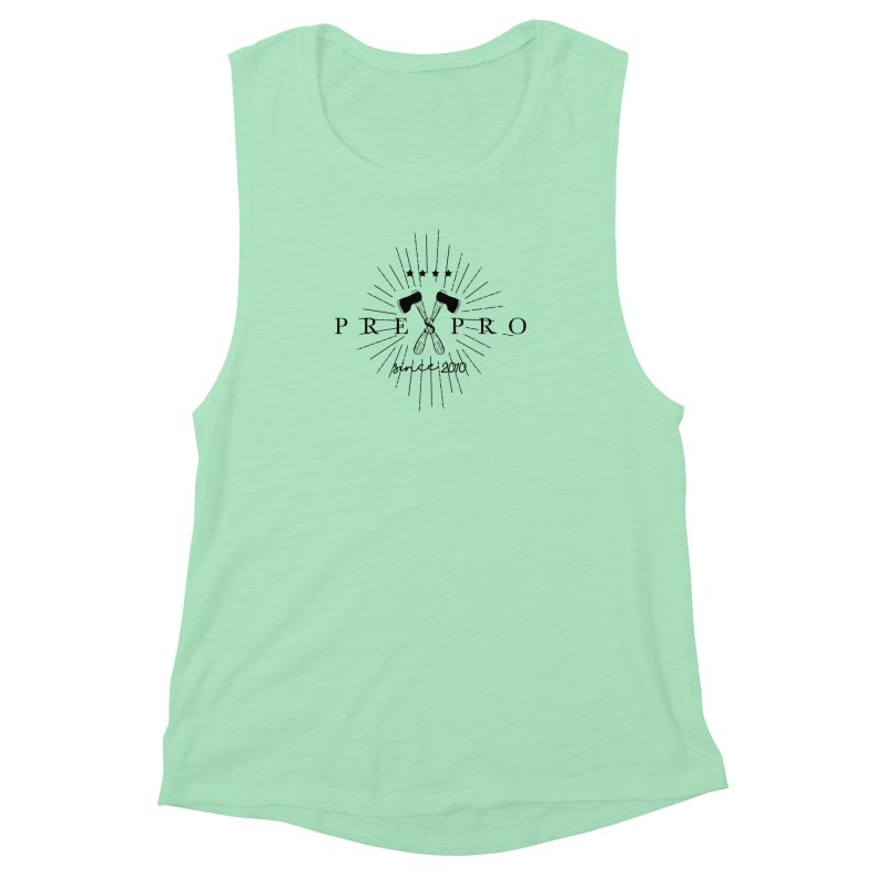 AXES-BLACK INK Women's Muscle Tank by PRESPRO CUSTOM HOMES