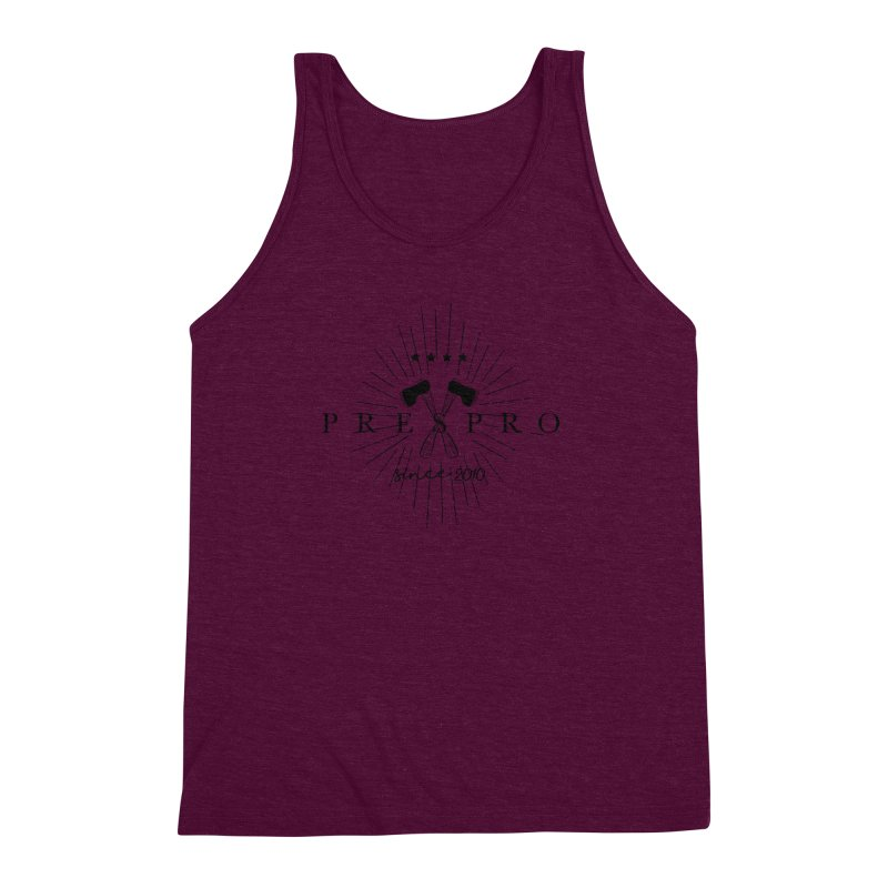 AXES-BLACK INK Men's Triblend Tank by PRESPRO CUSTOM HOMES