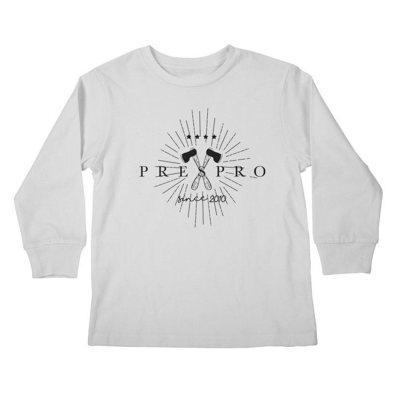AXES-BLACK INK Kids Longsleeve T-Shirt by PRESPRO CUSTOM HOMES