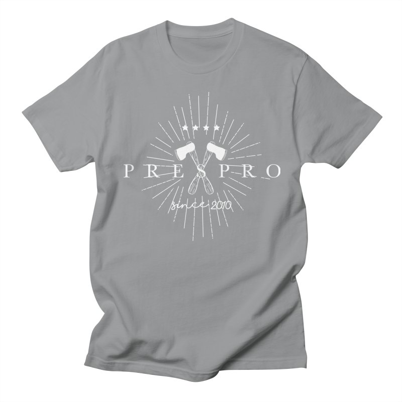 AXES-WHITE INK Men's Regular T-Shirt by PRESPRO CUSTOM HOMES