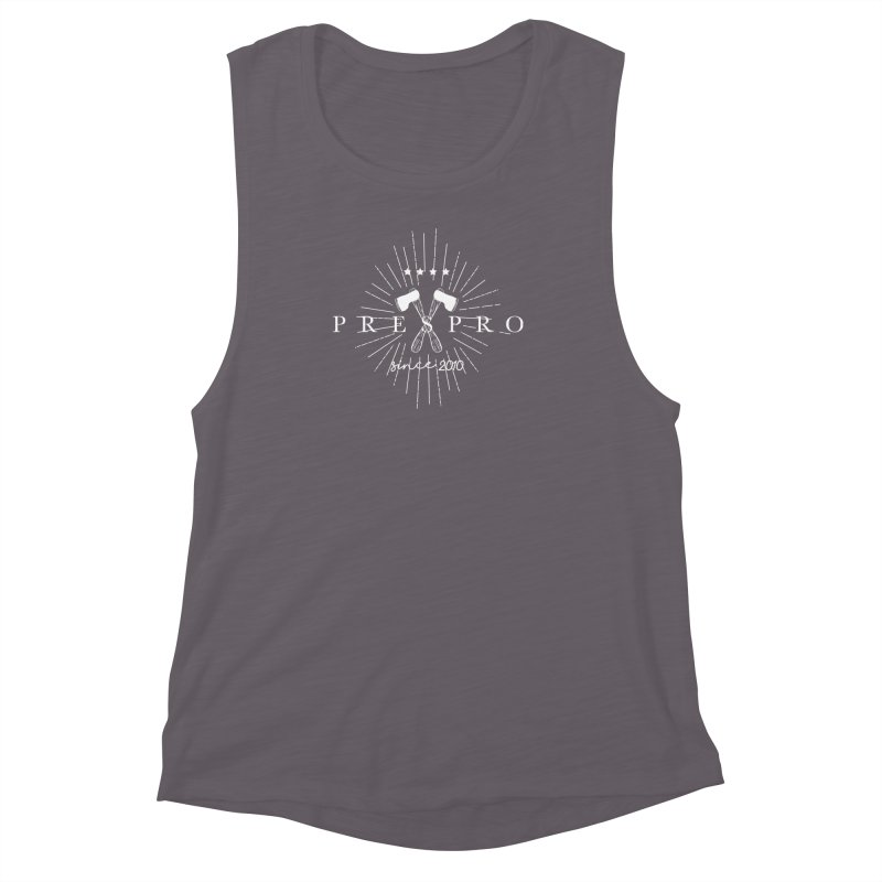 AXES-WHITE INK Women's Muscle Tank by PRESPRO CUSTOM HOMES
