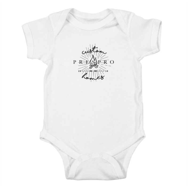 FIRE-BLACK INK Kids Baby Bodysuit by PRESPRO CUSTOM HOMES